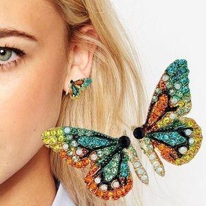 Beautiful Rainbow Butterfly Earrings